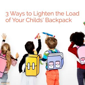 Lighten The Load Of Your Child's Backpack in Wichita KS